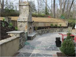Retaining Wall Seating Backyards Modern Flagstone Patio Seating Bench Retaining Wall