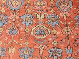 9 of 12 antique hand made traditional persian rug oriental wool red carpet 395x297cm