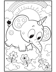 This section includes, enjoyable colouring, free printable homework, elephant coloring pages and worksheets for every. Uni Creatures Unicorn Elephant Crayola Com