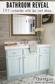 easy to make bathroom updates diy bathroom renovation reveal