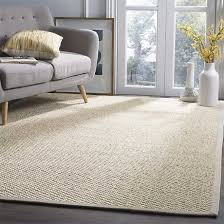natural area rug made from sisal placed in a living room