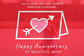 1st wedding anniversary wishes for
