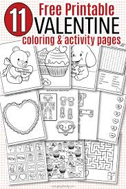 Coloring pages are fun for children of all ages and are a great educational tool that helps children develop fine motor skills, creativity and color recognition! Free Printable Valentine Coloring Pages Activity Sheets For Kids Sunny Day Family
