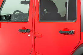 rugged ridge elite door handle inserts for 07 18 jeep wrangler jk 4 door quadratec