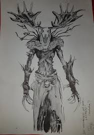 Friend Did This Awesome Drawing Of A Leshen From The Witcher 3 Gaming