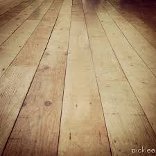 Plywood Plank Ceiling Farmhouse Wide Plank Floor Made From Plywood Diy Picklee