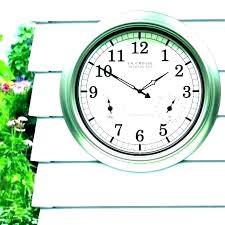 giant outdoor wall clock clocks remarkable large waterproof
