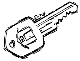 black house key. Key Clipart House #1 Black