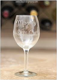 diy etched glass mommy s sippy cup wine glass silhouette cameo and promo code