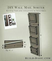 wall mount letter holder bin plate design ideas organizer wood mounted racks
