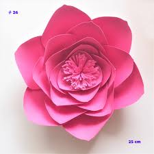 Paper Flower Video Us 2 54 49 Off 15cm 45cm Cardstock Rose Diy Paper Flowers For Wedding Event Backdrops Decorations Baby Nursery Wall Decor Video Tutorials In