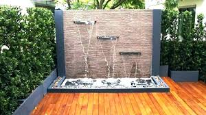 O Outdoor Water Wall Lovable Fountain Spectacular Garden Ideas Lovers Club  Diy Kit Feature