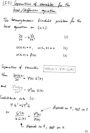 5 3 separation of variables for the heat equation