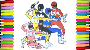 Power Rangers Coloring Pages For Kids Mighty Morphin Power Rangers