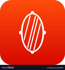 oval mirror frame. Oval Mirror Frame Icon Digital Red Vector Image I