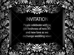 Bloemen Uitnodigingskaart Met Antieke Luxe Zwarte En Zilveren Vintage Frame En Sier Lacy Achtergrond Victoriaanse Banner Prachtige Behang Ornament