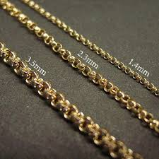 Necklace Thickness Chart 14k Gold Filled Belcher Chains