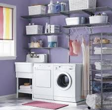 Add Baskets to Your Cabinets. Blue Laundry Room ...