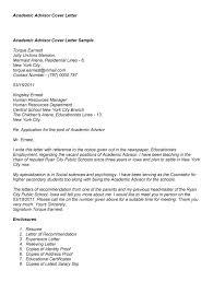 Sample Cover Letter For Academic Advisor Good Concept Position In