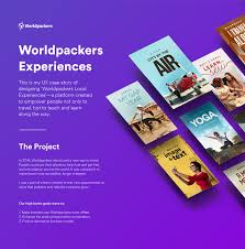 worldpackers experiences brand and app design ux ui on behance