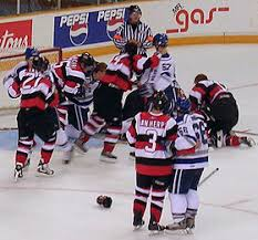 altercations often occur near the goal after a stoppage of play since defensive players are extremely concerned with protecting their goaltender