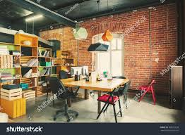 wall art for office space. Modern Office Interior With Old Vintage Brick Wall. Art Work Business Space Wall For P