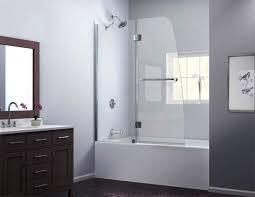 image of bathtub glass doors frameless