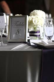 silver rectangular table number frame