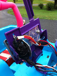 modified power wheels race cars with variable speed pedal and Jeep Power Wheels Foot Switch Wiring Diagram simple positive and negative in the bottom and out the top of the switch to your motor Electrical Power Wheel