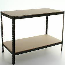 heavy duty workbench table industrial steel work bench metal shelves warehouse 2