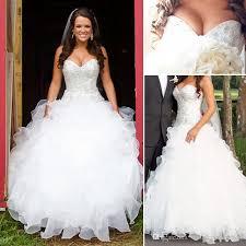 discount vintage plus size country wedding dresses a line
