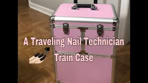 traveling nail technician rolling train case