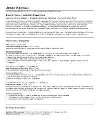 Underwriter Resume Sample Insurance Underwriter Cover Letter