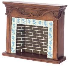 vintage fireplace tiles