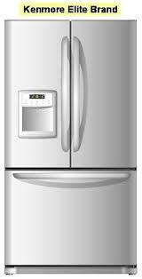 kenmore elite logo. picture of recalled kenmore elite brand refrigerator logo