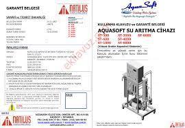 Aquasoft DW ST8000 Su Arıtma Cihazı - Kullanma Kılavuzu - Sayfa:1 -  ekilavuz.com