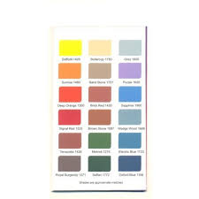 Acrylic Distemper Shade Cards Paints Wall Putty