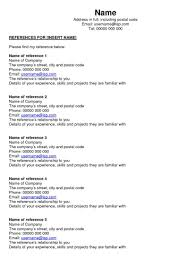 Example Of Reference Page For Resume References Template Google Docs ...