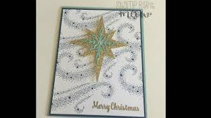 Stampin Up Star Of Light Cards Star Of Light Christmas Card With Stampin Up
