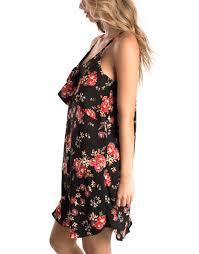 Buy Black Ruffle Floral Dress Eyeshadow Pina Court