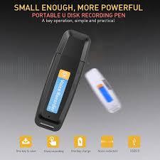 Kebidumei Máy Ghi Âm Mini Dictaphone Âm USB Bút Ổ U Chuyên Nghiệp Đèn LED  Kỹ Thuật Số Âm Micro SD Thẻ TF 32G Digital Voice Recorder