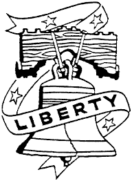 Liberty Bell Coloring Page Az Coloring Pages Red White And Blue