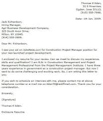Sample Construction Cover Letters Project Manager Cover Letter Examples Cover Letter Now