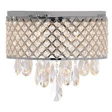 pirouette flush mount in chrome with crystal