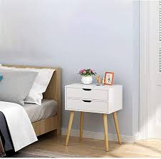 beyonds bedside table 2 drawers wood