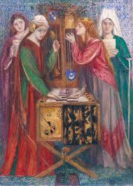 dante gabriel rossetti the blue closet 1857