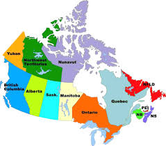 map of the provinces of canada  all world maps