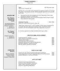 Resume Templates Example Computer Teachersumes Yun56 Co Free