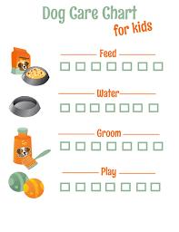 Free Printable Dog Care Chore Checklist Chart