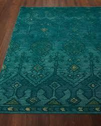 image 1 of 2 gem hand tufted rug teal 7 9
